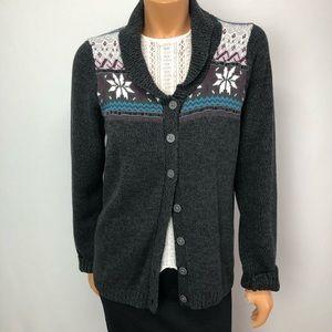 Contemporaine Simons grey knit cardigan Sz L